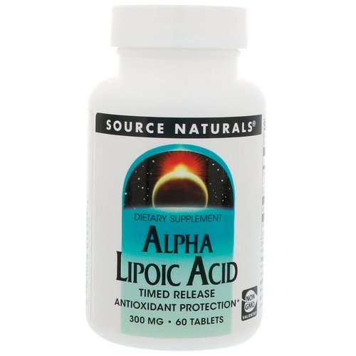 Source Naturals, Alpha Lipoic Acid, Timed Release, 300 mg, 60 Tablets Review