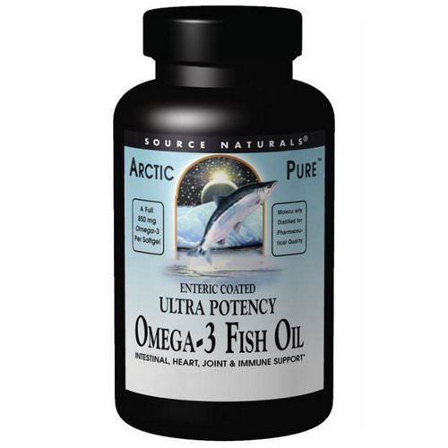 Source Naturals, Arctic Pure, Ultra Potency, Omega-3 Fish Oil, 850 mg, 120 Softgels Review