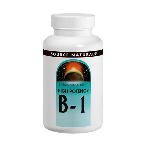 Source Naturals, B-1, High Potency, 500 mg, 100 Tablets Review
