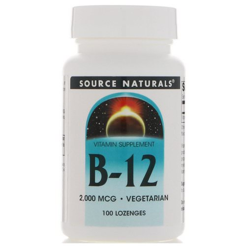 Source Naturals, B-12, 2,000 mcg, 100 Lozenges Review