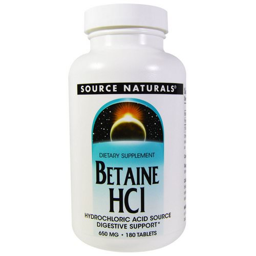 Source Naturals, Betaine HCL, 650 mg, 180 Tablets Review
