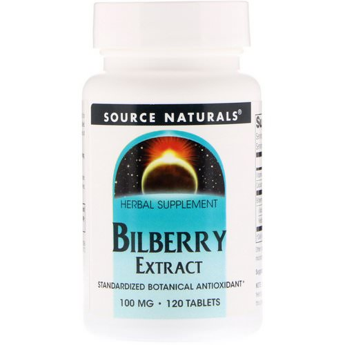 Source Naturals, Bilberry Extract, 100 mg, 120 Tablets Review