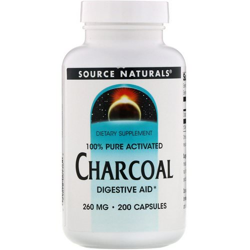 Source Naturals, Charcoal, 260 mg, 200 Capsules Review