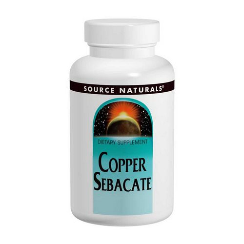 Source Naturals, Copper Sebacate, 22 mg, 120 Tablets Review