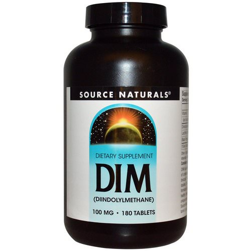 Source Naturals, DIM (Diindolylmethane), 100 mg, 180 Tablets Review