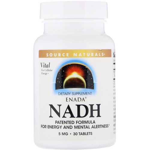 Source Naturals, ENADA NADH, 5 mg, 30 Tablets Review