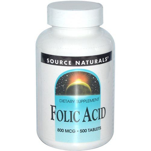 Source Naturals, Folic Acid, 800 mcg, 500 Tablets Review