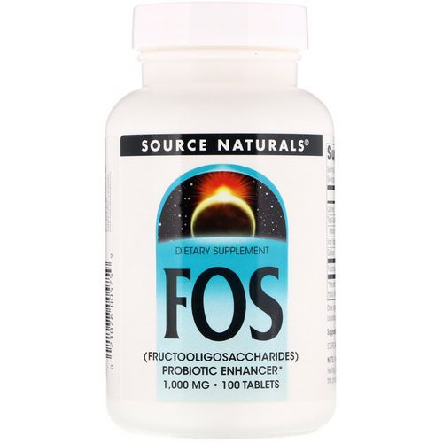 Source Naturals, FOS (Fructooligosaccharides), 1,000 mg, 100 Tablets Review