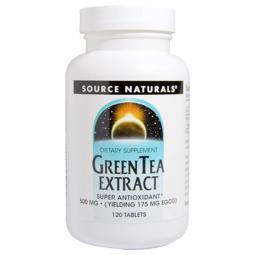 Source Naturals, Green Tea Extract, 500 mg, 120 Tablets Review
