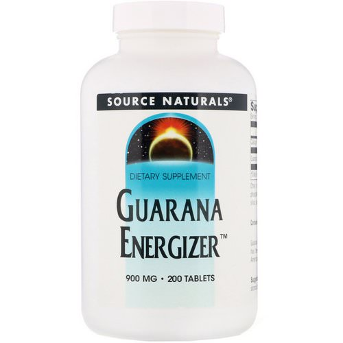 Source Naturals, Guarana Energizer, 900 mg, 200 Tablets Review