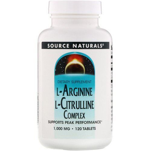 Source Naturals, L-Arginine L-Citrulline Complex, 1,000 mg, 120 Tablets Review