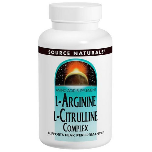 Source Naturals, L-Arginine L-Citrulline Complex, 1,000 mg, 240 Tablets Review