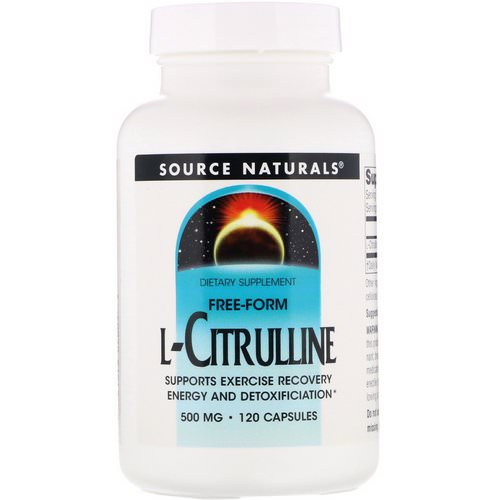 Source Naturals, L-Citrulline, 500 mg, 120 Capsules Review