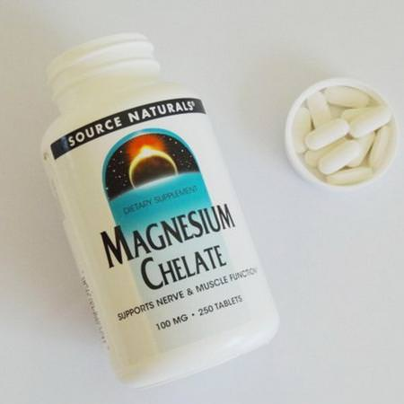 Source Naturals, Magnesium Chelate, 100 mg, 250 Tablets Review