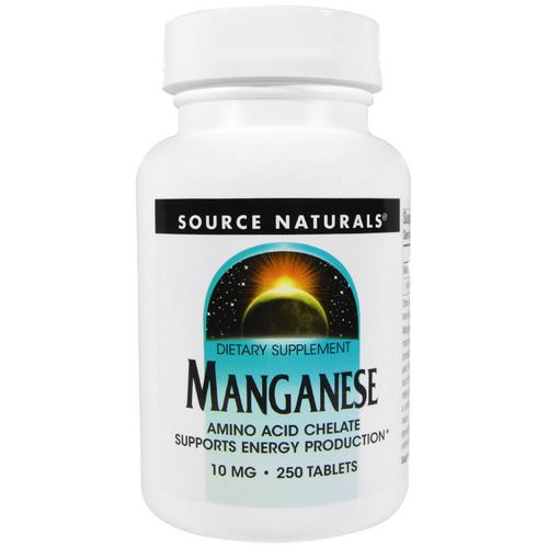 Source Naturals, Manganese, 10 mg, 250 Tablets Review