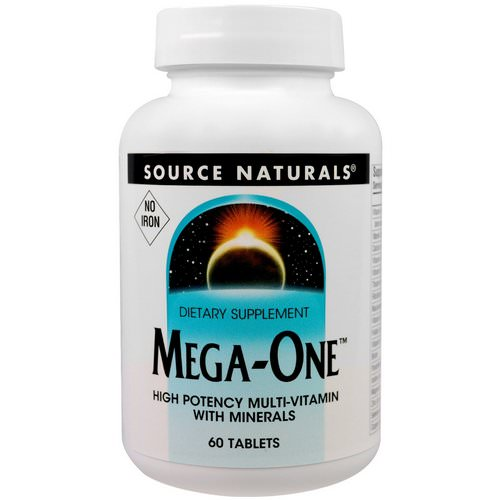 Source Naturals, Mega-One, No Iron, 60 Tablets Review