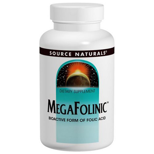 Source Naturals, MegaFolinic, 800 mcg, 120 Tablets Review