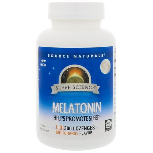 Source Naturals, Melatonin, Orange, 1 mg, 300 Lozenges Review