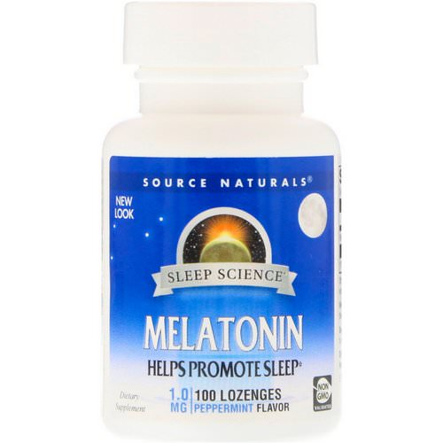 Source Naturals, Melatonin, Peppermint, 1 mg, 100 Lozenges Review