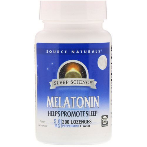 Source Naturals, Melatonin, Peppermint, 5 mg, 200 Lozenges Review