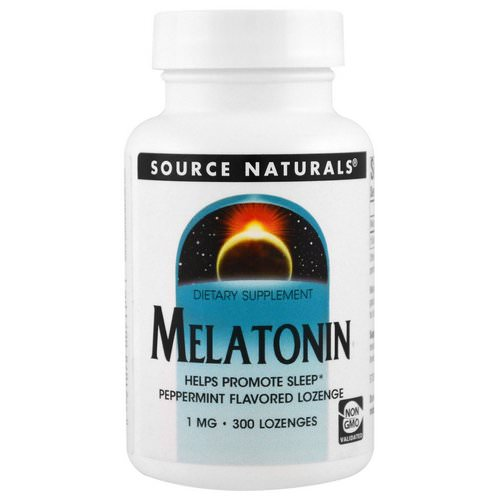 Source Naturals, Melatonin, Peppermint, 1 mg, 300 Lozenge Review