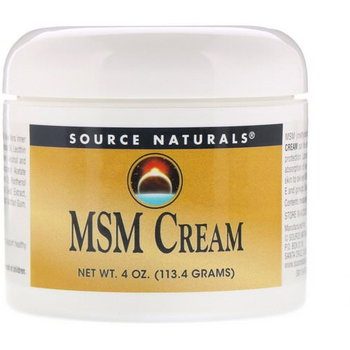Source Naturals, MSM Cream, 4 oz (113.4 g) Review