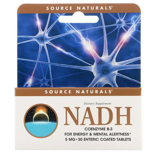 Source Naturals, NADH, CoEnzyme B-3, 5 mg, 30 Tablets Review