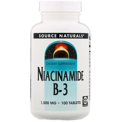 Source Naturals, Niacinamide, B-3, 1,500 mg, 100 Tablets Review