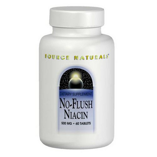 Source Naturals, No-Flush Niacin, 500 mg, 60 Tablets Review
