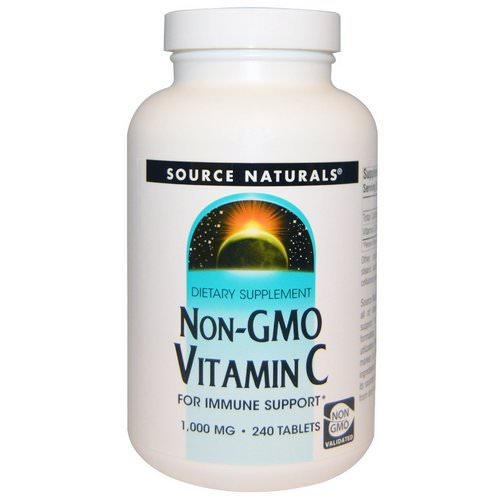 Source Naturals, Non-GMO Vitamin C, 1,000 mg, 240 Tablets Review