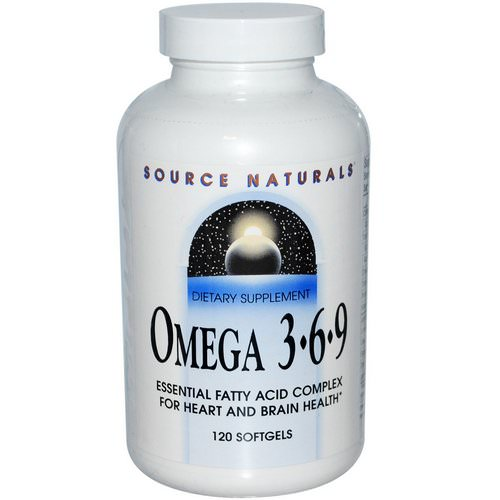 Source Naturals, Omega 3 6 9, 120 Softgels Review