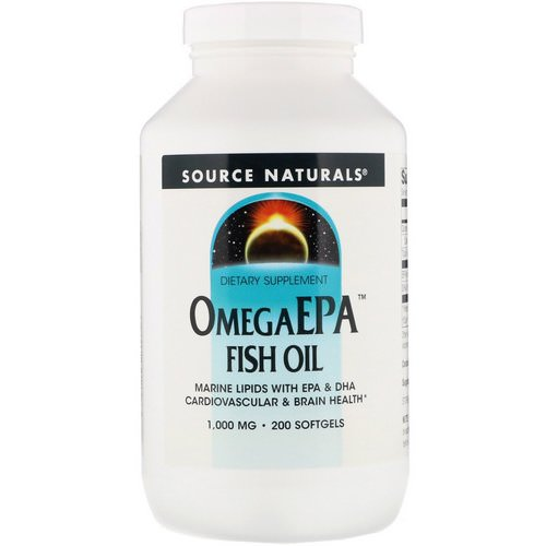 Source Naturals, OmegaEPA Fish Oil, 1,000 mg, 200 Softgels Review