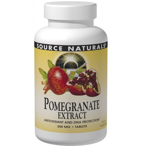 Source Naturals, Pomegranate Extract, 500 mg, 60 Tablets Review
