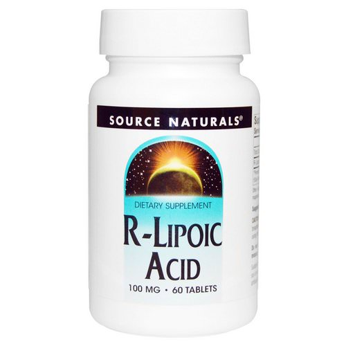 Source Naturals, R-Lipoic Acid, 100 mg, 60 Tablets Review
