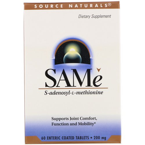 Source Naturals, SAM-e (S-Adenosyl-L-Methionine), 200 mg, 60 Enteric Coated Tablets Review