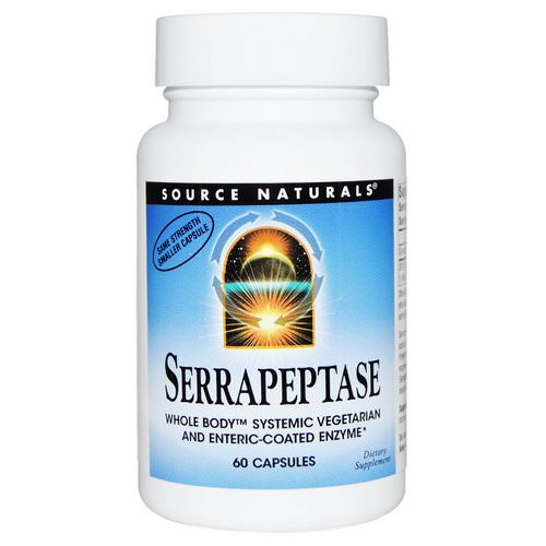 Source Naturals, Serrapeptase, 60 Capsules Review