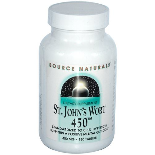 Source Naturals, St. John's Wort 450, 450 mg, 180 Tablets Review
