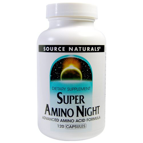 Source Naturals, Super Amino Night, 120 Capsules Review