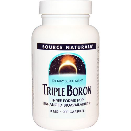 Source Naturals, Triple Boron, 3 mg, 200 Capsules Review