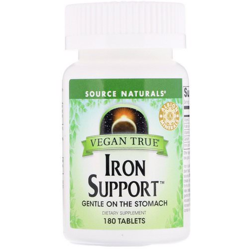 Source Naturals, Vegan True, Iron Support, 180 Tablets Review
