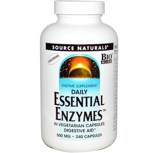 Source Naturals, Vegetarian Daily Essential Enzymes, 500 mg, 240 Capsules Review