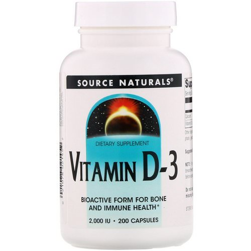 Source Naturals, Vitamin D-3, 2,000 IU, 200 Capsules Review
