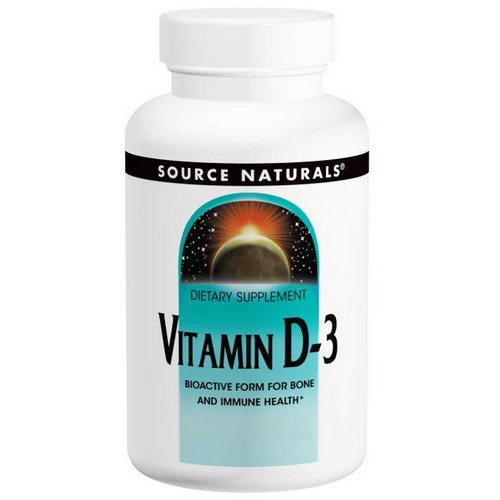 Source Naturals, Vitamin D-3, 5,000 IU, 120 Capsules Review