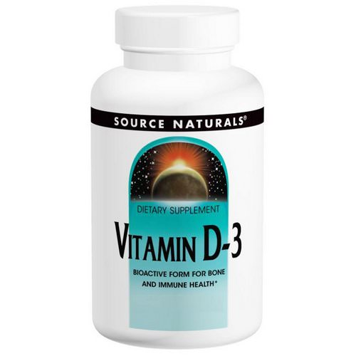 Source Naturals, Vitamin D-3, 5,000 IU, 240 Capsules Review