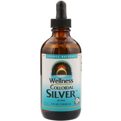 Source Naturals, Wellness Colloidal Silver, 45 PPM, 4 fl oz (118.28 ml) Review