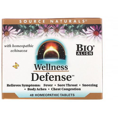 Source Naturals, Wellness Defense, 48 Homeopathic Tablets Review