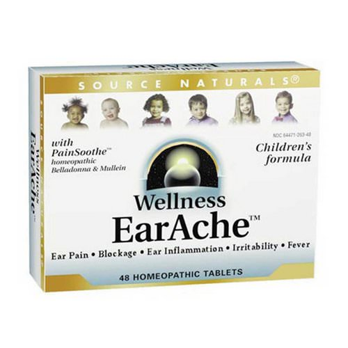 Source Naturals, Wellness, EarAche, 48 Homeopathic Tablets Review