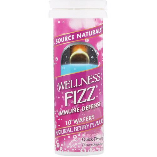 Source Naturals, Wellness Fizz, Natural Berry Flavor, 10 Wafers Review