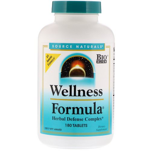 Source Naturals, Wellness Formula, Herbal Defense Complex, 180 Tablets Review