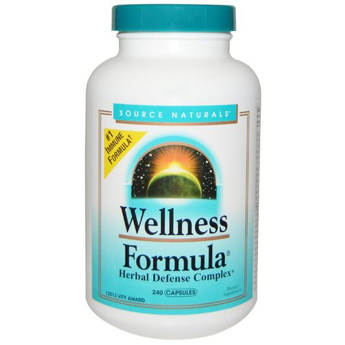 Source Naturals, Wellness Formula, Herbal Defense Complex, 240 Capsules Review